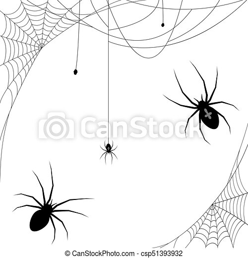 Halloween Spider And Spider Webs Collection Of Different