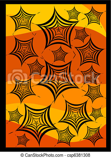Halloween spiders web - csp6381308
