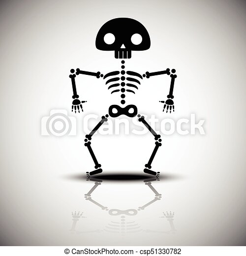 Skelet Voor Halloween.Halloween Spotprent Skelet