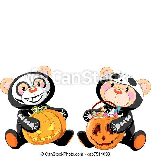 halloween teddy bear cute halloween teddy bears with vectors rh canstockphoto com halloween vector patterns halloween vector clipart