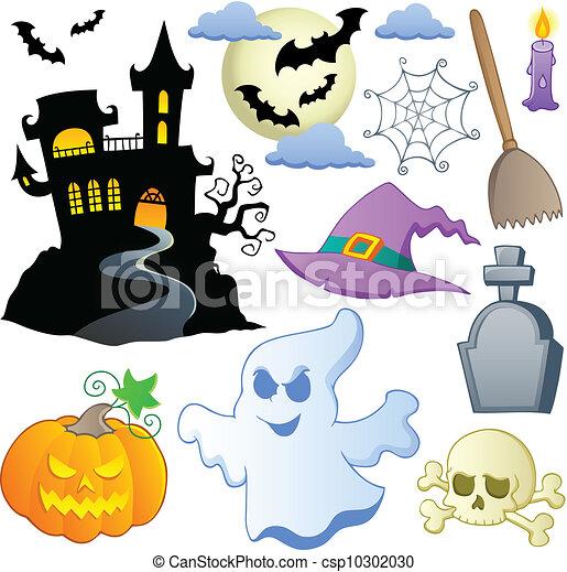 Halloween theme collection 1 - csp10302030