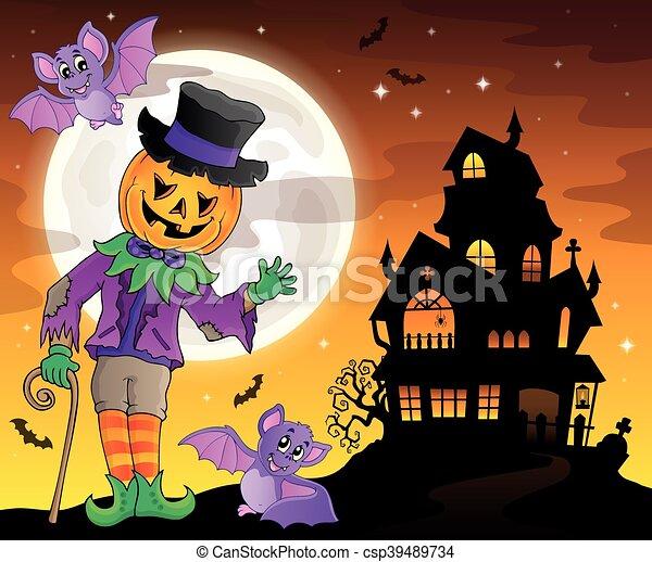 Halloween theme figure - csp39489734