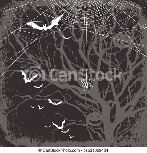 Halloween Themed Background Vector  Search Clip Art Illustration