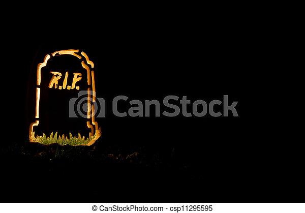 Halloween Tombstone - csp11295595