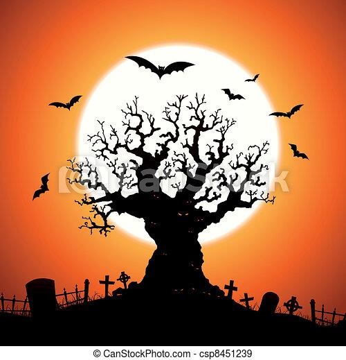 halloween tree illustration of a halloween frightening wicked tree rh canstockphoto com Ghost Eyes Clip Art Funny Eyes Clip Art
