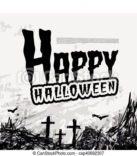 Halloween vector background - csp40692307