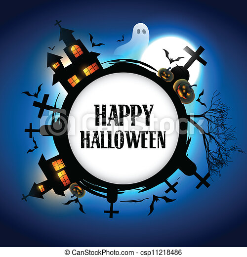 halloween vector design - csp11218486