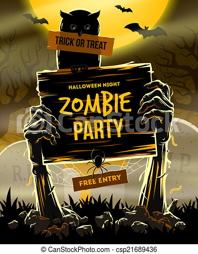 Halloween vector illustration - csp21689436