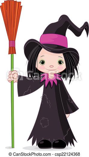 Halloween Witch - csp22124368