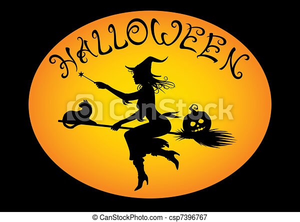 halloween witch - csp7396767