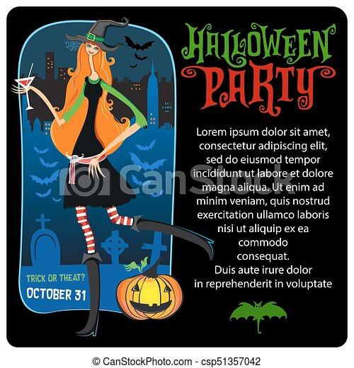 halloween witch vector template halloween series halloween vector