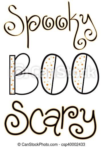 halloween words csp40002433