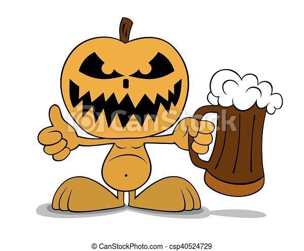 halloween, zucca - csp40524729