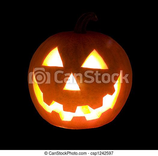 Halloween's orange pumpk - csp1242597