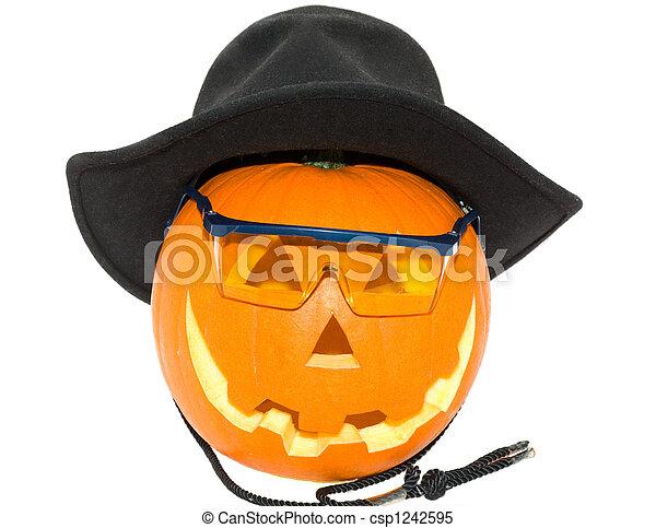 Halloween's orange pumpk - csp1242595