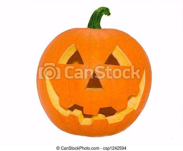 Halloween's orange pumpk - csp1242594