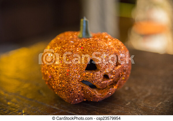 Hallowen pumpkin on a table stock images - Search Stock Photos ...
