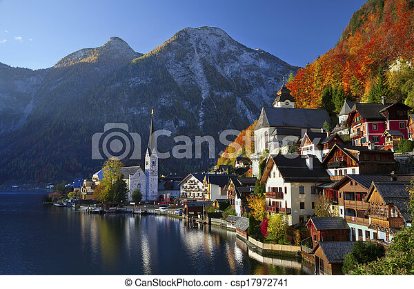 hallstatt, austria. - csp17972741