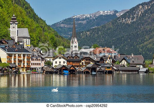 Hallstatt village, Austria - csp20954292