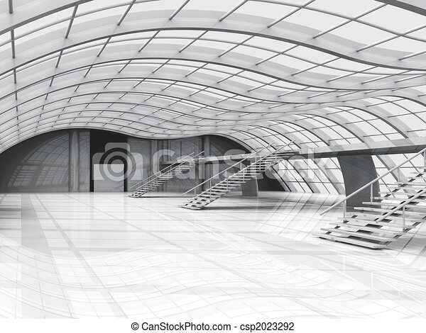hallway, architectuur - csp2023292