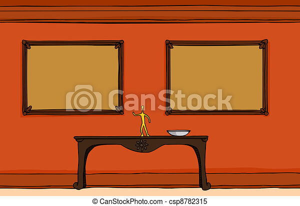 hallway with empty frames csp8782315 - Empty Frames