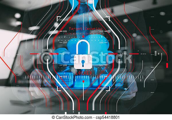 Regulación de Protección de Datos Generales (GDPR) y concepto de seguridad. - csp54418801