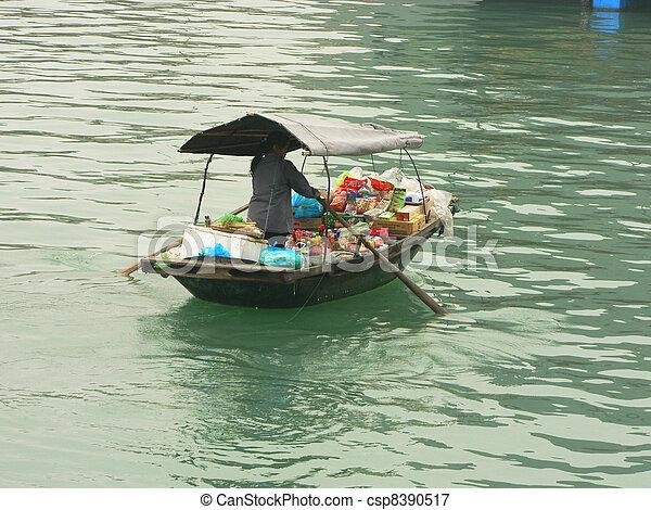 halong, vietnam., 海灣 - csp8390517