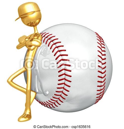 Baseball-Haltung - csp1635616