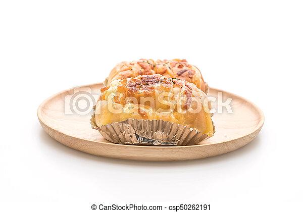 ham cheese bun - csp50262191