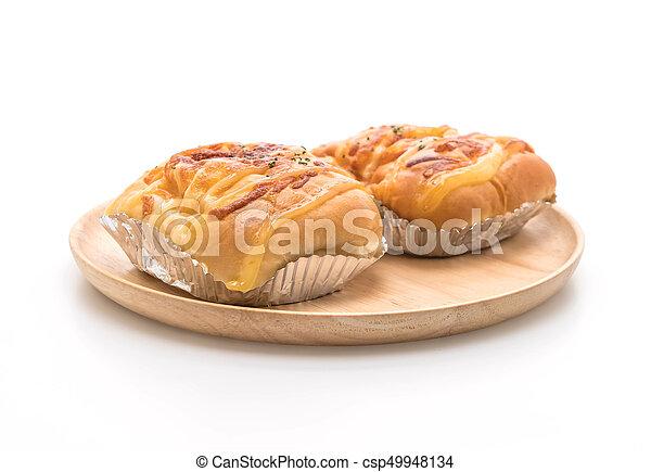 ham cheese bun - csp49948134