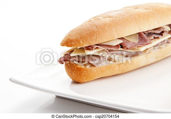 Ham cheese sandwich - csp20704154