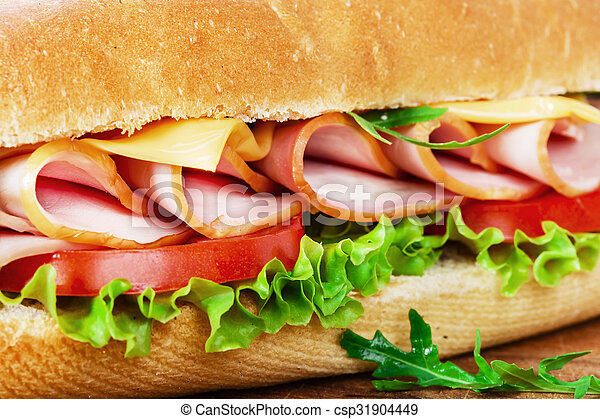 ham sandwich with cheese and tomato - csp31904449