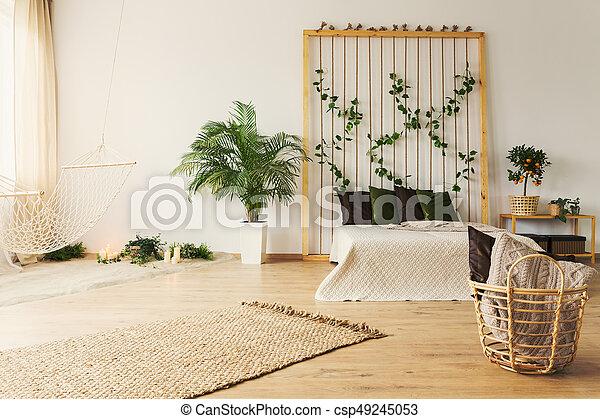 Usines Naturel Simple Hamac Chambre à Coucher élégant