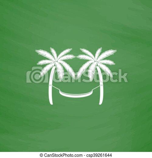 Hamaca y palmeras - csp39261644
