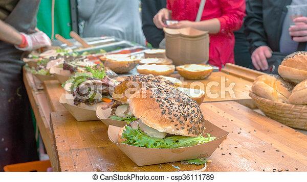 hambúrgueres, fazer - csp36111789