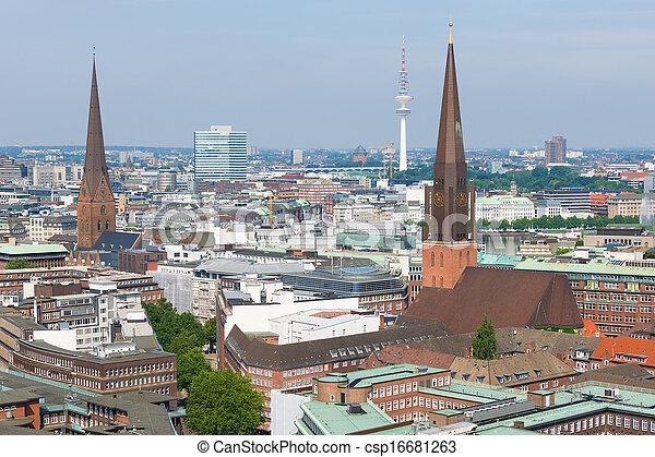 Hamburg in a summer day - csp16681263