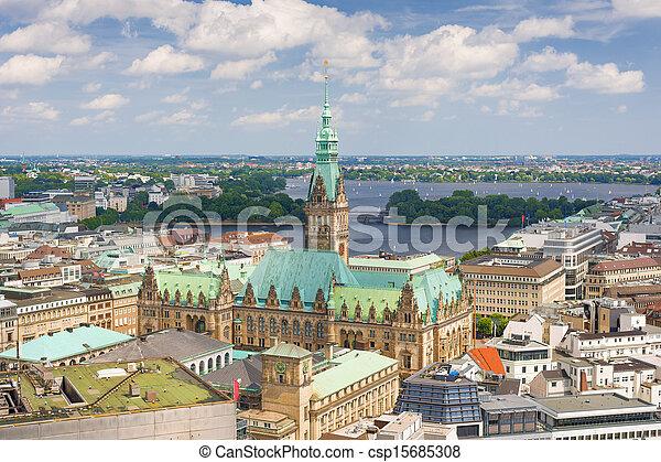 Hamburg in a summer day - csp15685308