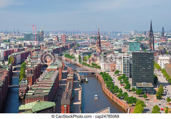 Hamburg in summer - csp24785069