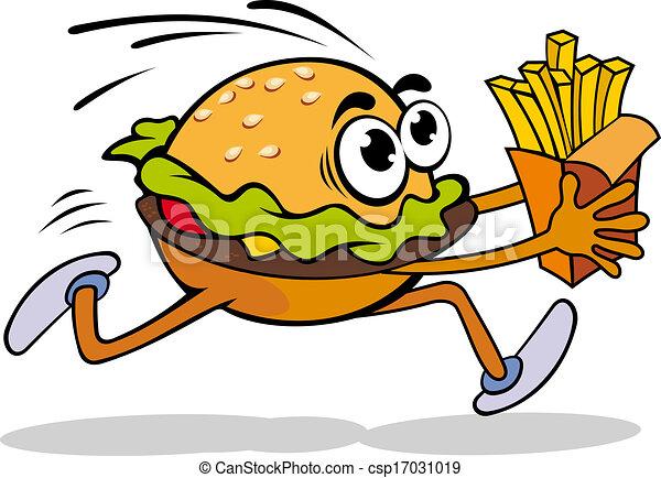 hamburger, aardappel - csp17031019