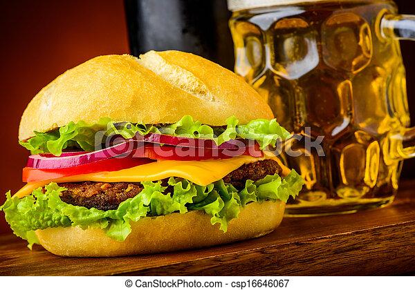 hamburger, dettaglio - csp16646067