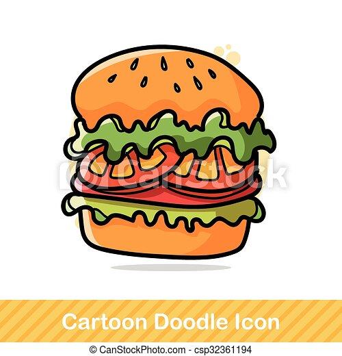 hamburger doodle eps vectors search clip art illustration