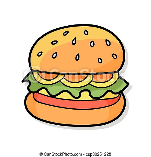 hamburger doodle vector illustration search clipart drawings and