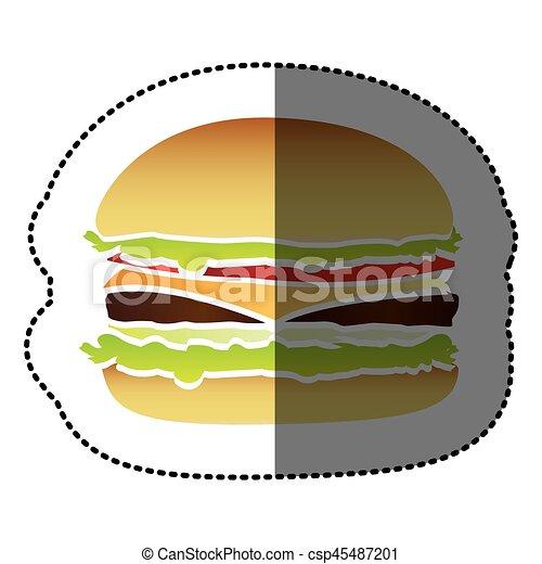hamburger fast food icon vector illustraction design vector clipart