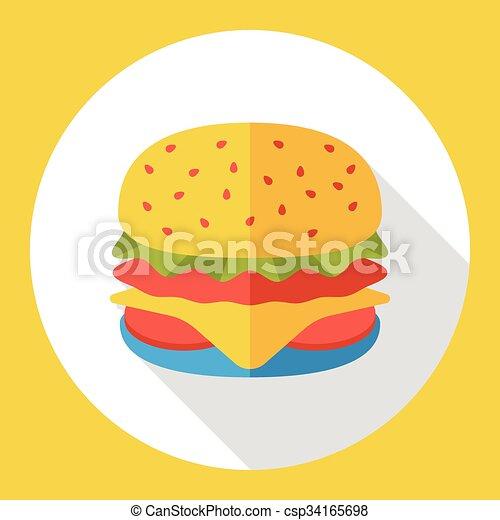 hamburger flat icon eps vectors search clip art illustration