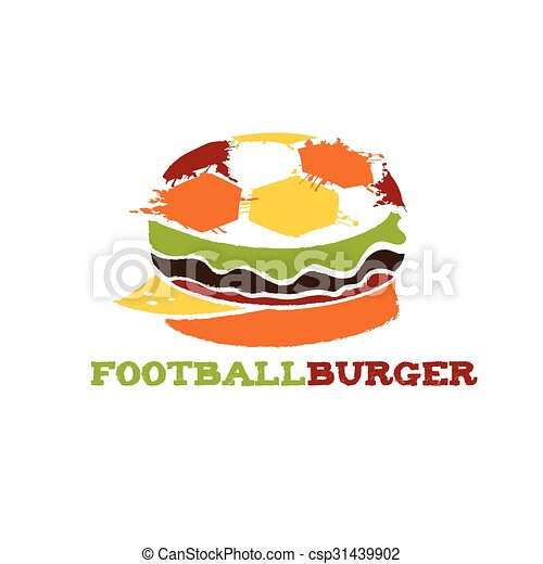hamburger, football, illustrazione - csp31439902