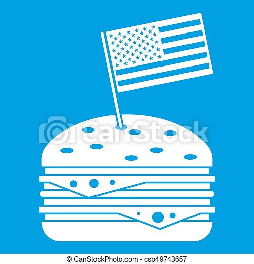 Hamburger icon white - csp49743657