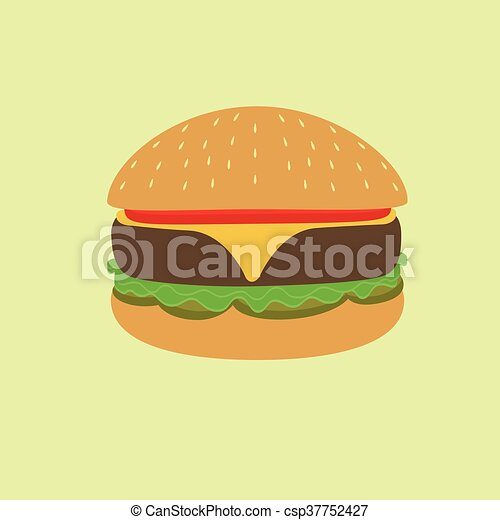 hamburger, illustrazione - csp37752427