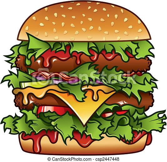 hamburger, illustrazione - csp2447448