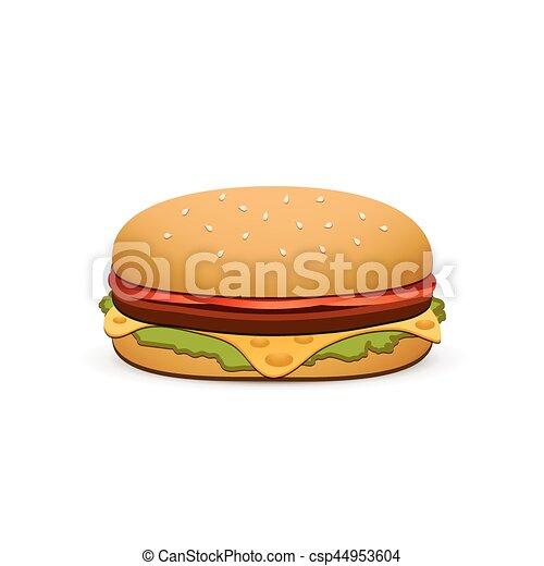 hamburger isolated on white background vector illustration vector