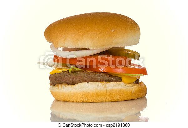 Hamburger on white - csp2191360